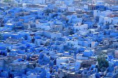 फोटो स्रोत : जोधपुर ( राजस्थान ) के नील चूने से पुते मकान