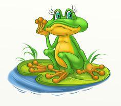 Просмотреть иллюстрациюНаталья Логванова - лягушка2.