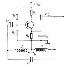 Oscillatore Hartley a BJT tipo NPN
