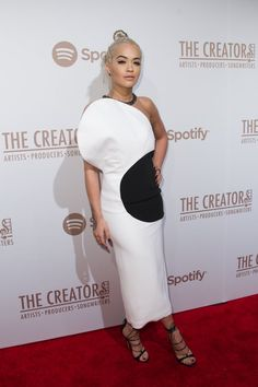 Pin for Later: See All the Glamorous Grammys Preparties Ahead of the Big Show  Pictured: Rita Ora