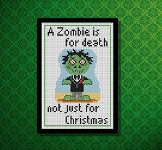 Zombie Cross Stitch PDF Chart Pack by SheenaRogersDesigns on Etsy, £1.80