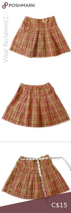 Girls Pleated Plaid Skirt w/Buckle - Size 3 Girls adorable pleated plaid skirt. Elastic waistband in back Buckle accent Size: tag says 3 Please see measurements in photos to ensure fit Excellent preloved condition from a smoke free home Bottoms Skirts Kids Tutu, Toddler Tutu, Cute Skirts, Plaid Skirts, Fur Skirt, Knit Shrug, Checkered Skirt, Skirts For Kids