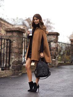 nettenestea outfit antrekk kamel farget kåpe pony genser zara mote blogg november
