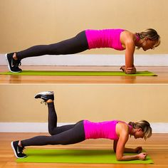 Elbow Plank With Donkey Kick and other exercises for saddlebags. You can't spot reduce, but with body fat loss these exercises may provide some reduction in the size of the saddlebags.