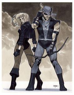 Green Arrow & Black Canary by Mahmud Asrar