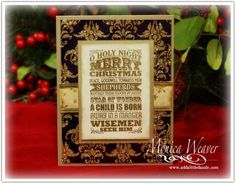 O Holy Night Metal Embossed Card by ratona27 - Cards and Paper Crafts at Splitcoaststampers