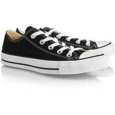 Converse Chuck Taylor All Star canvas sneakers (73 CAD) ❤ liked on Polyvore featuring shoes, sneakers, converse, chaussures, black, canvas lace up sneakers, black lace up sneakers, black shoes, black canvas shoes and converse trainers