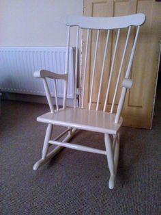 Before photo of the rocking chair