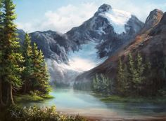 """""""Canadian Glacier"""" by Kevin Hill  Check out my YouTube channel: KevinOilPainting    For more information about brushes, DVDs, events, and more go to: www.paintwithkevin.com"""