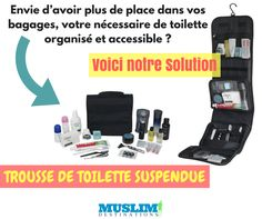 Une solution idéale pour maintenir votre sac organisé et bien rangé.Les kits de toilette suspendus vous permettent d'avoir le nécessaire à porter de mains. En plus de cela vous pouvez également compartimenter vos accessoires....