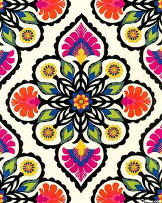 Flower Kaleidoscope - Cream