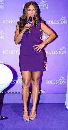 Ivete Sangalo na coletiva de imprensa da Kolestone - mostrando sua nova cor de cabelo