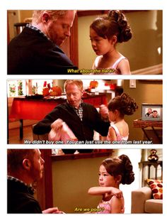 """""""No Lily you aren't poor you just didn't get everything you wanted.""""  """"So my daddies hate me?""""  """"No.""""  """"Yes""""  """"No""""   """"Yes""""  """"(sigh)"""""""