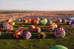 The Albuquerque International Balloon Fiesta is a yearly festival of hot air balloons that takes place in Albuquerque, New Mexico, USA during early October. The balloon fiesta is a nine day event, and has around 750 balloons. The event is the largest hot air balloon festival in the world.   Albuquerque Balloon Fiesta - New Mexico