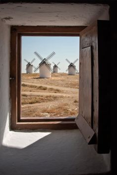 Windmills through the windows ~ where do I have to move to to get this view every morning?!
