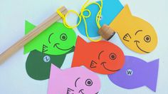 Magnetic Fishing Game with letters on fish. Heather Hess: How to Create the Perfect Activity Box for Kids. A list of busy activities for toddlers in an organized way