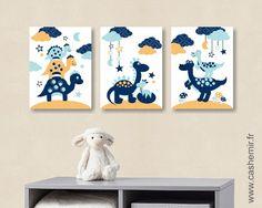 Affiche pour enfant illustration bébé poster enfant garçon décoration chambre enfant dinosaure n12 : Décoration pour enfants par cashemir