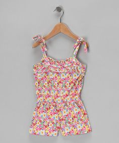 Take a look at this Pink Floral Romper - Toddler & Girls by S.W.A.K. on #zulily today!