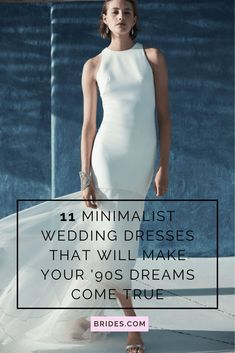These minimalist wedding dresses prove that simple wedding dresses are anything but lame.