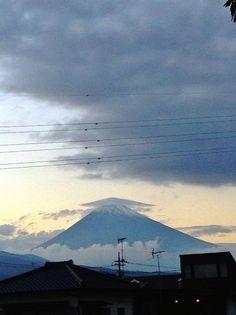 Cap cloud Mt.Fuji 笠雲 富士山 10/25/2014 (Shizuoka Japan 静岡県裾野市)