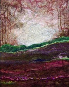 sosuperawesome:  Needle felt landscape by Deebs