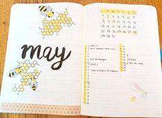Bujo May spread | Studying Amino Amino
