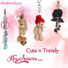 Hey Guys New Arrival of Stylish Keyrings  Visit:- http://khoobsurati.com/accessories/keychains