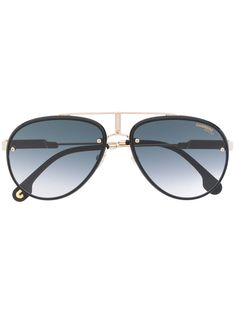 Carrera Aviator Sunglasses In Gold Black Aviator Sunglasses, Black Aviators, Carrera, Ski Goggles, Mens Glasses, Aviation, Women Wear, Mens Fashion, Products