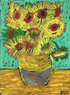 Van Gogh Meets Oil Pastels: Make a Van Gogh Oil Pastel Project Van Gogh Meets Oil Pastels: Make a Van Gogh Oil Pastel Project · Craftwhack Oil Pastel Paintings, Oil Pastel Drawings, Oil Pastel Art, Art Drawings, Van Gogh For Kids, Art For Kids, Kids Fun, Vincent Van Gogh, Chalk Pastels