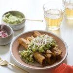 Permalink to: Crispy Chicken Taquitos with Avocado Crema