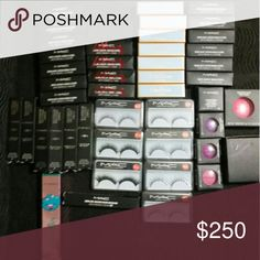 Mac bundle Lipstick Mascara Eyelashes blush concealer loose powder foundation 2n1 lipstick and gloss eyeshadow  no trades MAC Cosmetics Makeup Mascara