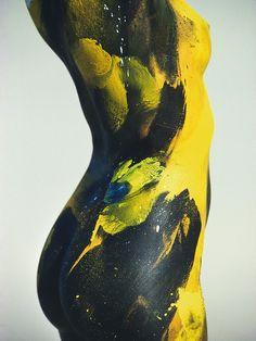 Painted by Kodak Switzerland, 1987, BodyPaint, by Hans Feurer, Model Gitta Sack