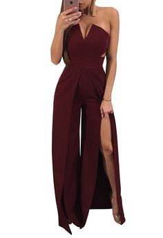797959fb7f01 Women's Clothing, Jumpsuits, Rompers & Overalls, Womens Strapless  Cocktail Dress Wide Leg