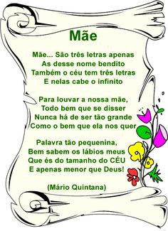 poemas para o dia das mães Carla Santos, Mothers Day Crafts, Mother And Father, Baby Shark, Mom And Dad, Texts, Birthday Cards, Romantic, Humor