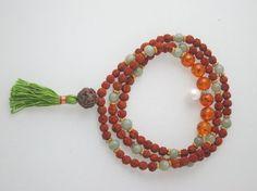 "Amazon.com: ""Tarini Jewels"" Yoga Meditation Japa Mala Rudraksha Amber Crystal Beads Mala ~ for Confidence: Tarini Jewels: Jewelry"