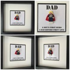 Dad Son Daughter Minifigure Frame Mum Gift Geek by FigureThatBox