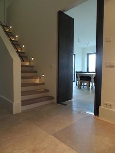 Built in lighting on stairs House Design, New Homes, House, Doors And Floors, Staircase Design, Stair Lighting, House Stairs, Remodeling Plans, Home Comforts