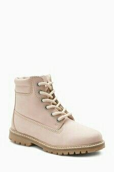 Buy Pink Lace-Up Suede Trainers (Older) from the Next UK online shop Clear Heel Boots, Pink Ankle Boots, Lace Up Boots, Shoe Boots, Latest Fashion For Women, Kids Fashion, Desert Boots, Fall Shoes