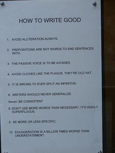 Como escrever bem. hehe