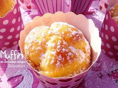 Muffin al cioccolato bianco Chocolate Recipes, White Chocolate, Scones, Macarons, Muffins, Bakery, Cheesecake, Food And Drink, Pudding
