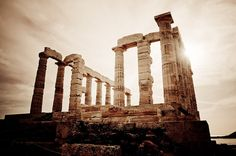Cape of Sounio. Temple of Poseidon