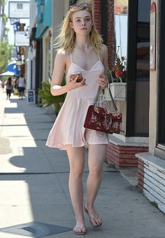 Elle Fanning leaving a Nail Salon in Beverly Hills [June 25th, 2016]