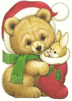 fete noel vintage gifs images - Page 21 Christmas Teddy Bear, Christmas Animals, Christmas Art, Vintage Christmas, Xmas, Cute Images, Cute Pictures, Gif Animé, Christmas Clipart