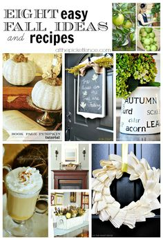 Eight easy fall ideas and recipes to inspire you!