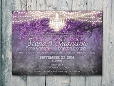 """♥♡♥ Digital - Printable Files - Purple - Brighten Night Shining Chandelier Wedding Invitation & RSVP Set - Wedding Stationery - ID403PUR ♥♡♥ ♥♡♥ You will receive digital files for : 1-sided Save the Date (5"""" x 7"""") .....$20 1-sided Invitation (5"""" x 7"""") .....$25 1-sided RSVP (3.5"""" x 4.5"""") .....$10 1-sided Thank you card (3.5"""" x 4.5"""") .....$10 ✽∞✽∞✽∞✽∞✽∞✽∞✽∞✽∞✽∞✽∞✽∞✽∞✽∞✽∞✽∞✽∞✽∞✽∞✽∞✽∞✽∞✽∞✽∞✽∞✽ ★ You will receive the custom files with your information on them in JPEG and PDF format with only 1..."""