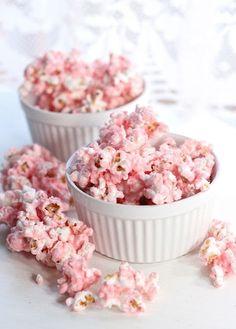 Movie night with pink popcorn and Wild Berries Rekorderlig.