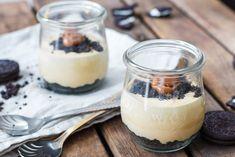 Oreo karamel cheesecake glaasjes