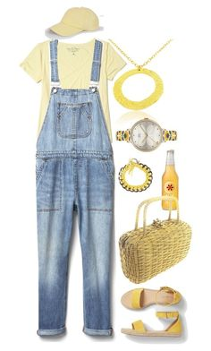 """""""Comfy in Overalls"""" by gia-ladyboss on Polyvore featuring Hollister Co., Gap, Koret, Talbots, Gamine, Orla Kiely and The Left Bank"""