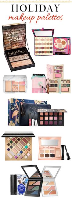 The prettiest holiday'16 makeup palettes you need to snap up this season! Click through to see the list!