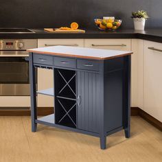 Kitchen island table with cabinets for small space saving